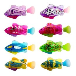 wholesale toys fishing UK - Electronic Fish Decorating New Arrival Plastic Material Funny Swim Electronic Robot Fish Activated Battery Powered Toy Q0110