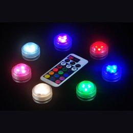 $enCountryForm.capitalKeyWord NZ - Free shipping 12pcs Waterproof fish tank LED light colorful flower vase lamps with remote control for glass bongs rigs hookah