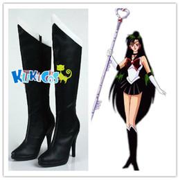 c05b66874dd5 Moon Boots Shoes Canada - Kukucos Anime Sailor Moon Sailor Pluto Boots  Cosplay Shoes Womens Heel