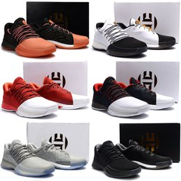 599303111ae New Harden Vol. 1 Mens Basketball Shoes Black White Orange Wholesale  Fashion James Harden Shoes Sneakers Size 40-46