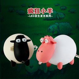 lamb toys 2018 - Wholesale- Sheep Light-up doll toy LED Light+Bleating sound Adorable lamb animal keyring Bag pendant Giveaway Torch keyc