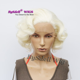 $enCountryForm.capitalKeyWord NZ - Celebrity Marilyn Monroe Short Romance Body Wave White Blonde Hair Front Lace Wig Synthetic Fairy Short Beauty Anime Cosplay Lace Front Wigs