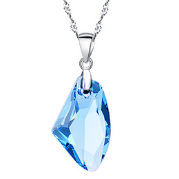 wishing stones crystals UK - Top quality Genuine S925 Sterling Silver wish stone pendant necklace use Australia crystal girlfriend gift