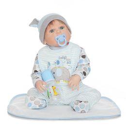 Diy Boys Toys UK - 23 Inch Lifelike Reborn Doll Newborn Baby Doll Handmade Full Silicone Vinyl Bath Boy Toy Gift
