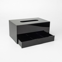 $enCountryForm.capitalKeyWord UK - NEW!Classic Acrylic Makeup Box Cosmetic Makeup tissue box Jewelry Storage Tray Tissue Box For Wedding Gift