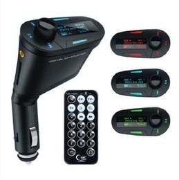Venta al por mayor de Nuevo Kit de Coche Reproductor de MP3 Inalámbrico FM Transmisor Modulador wma inalámbrico USB SD MMC LCD con Control Remoto Azul / rojo