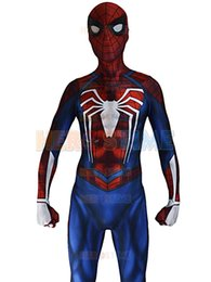 $enCountryForm.capitalKeyWord UK - Insomniac Spider-man Costume PS4 Insomniac Games Spiderman Suit 3D Print Lycra Spandex Zentai Spiderman Bodysuit
