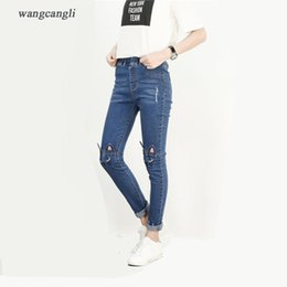 $enCountryForm.capitalKeyWord Canada - Fashion- Nice Autumn And Winter New Large Women€s Jeans Stretch Jeans Sexy Slender Waist Jeans Trousers High Waist Kitten Embroidery