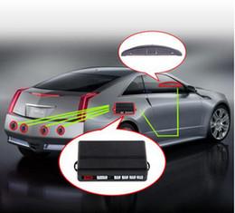 Автомобильная светодиодная парковка обратная резервная радиолокационная система с подсветкой+4 датчика 6 цветов горячая продажа бесплатная DHL