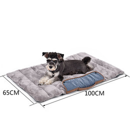 korean bedding Canada - Travel Essential!!Foldable Dog Mats Soft Pet Cushion Convenience Carry Pet Puppy Bed Warm Thick Cat Bed
