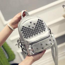 Back Packing Bags Canada - Nice- Women Mini Backpacks PU Leather Riveting Casual Bags Classical Teenagers Fashion Travel Rivet Back Pack Bag Korean Style 912