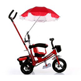 wholesale baby stroller umbrella solid protable pram stroller accessories for children shade parasol adjustable folding umbrella for chair discount