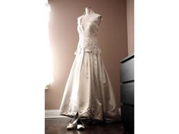 $enCountryForm.capitalKeyWord UK - Ball Gown Bridal Wedding Dress Dropped Waist Real Made Lace Capped Sleeve Rhinstones Beading COR-49 Vestido De Noiva Custom Size
