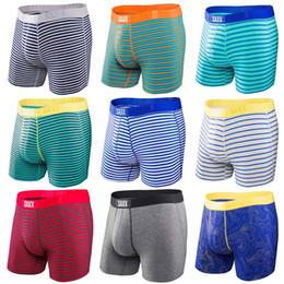 Vente en gros SAXX Sous-vêtements pour hommes VIBE Coupe moderne / boxer ULTRA Boxer Caleçon confortable pour hommes, 95% viscose, 5% élasthanne Livraison gratuite