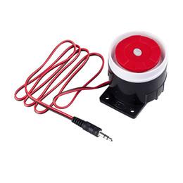 $enCountryForm.capitalKeyWord Australia - Mini Wired Siren Horn Speaker 110 dbs for Wireless GSM Home Security System Burglar Auto Alarm