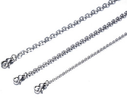 Welded stainless steel online shopping - 100pcs Fashion Women s in Bulk Silver Stainless Steel Welding Strong Thin Rolo O Link Necklace Chain mm mm wide
