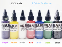 Discount tattoo ink colors free shipping - Wholesale- Free Shipping 5 Bottles Dynamic Tattoo Ink 30ml  1oz   30g Color Tattoo Pigment 7 Colors For Choose