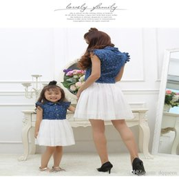 Match Dresses For Mom Daughter Canada - Mother Daughter Dresses 2017 Summer Family Clothing Mom and Daughter Dress Family Matching Outfits Dress for Kids and Women Gift