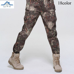 baggy jersey pants Canada - High Quality 2017 Winter Outdoor men Fleece Soft Shell Sweat Waterproof Breathable TAD Tactical Army Baggy Camouflage Pants Men