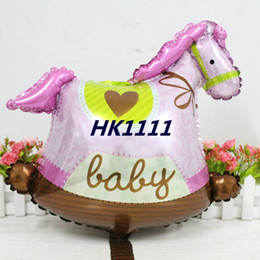baby boy balloon decorations 2020 - New BIG LARGE Trojans Horse Helium foil Balloon Baby Boy baby Girl 1st Birthday Party Decorations Baby Shower inflador d