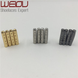 $enCountryForm.capitalKeyWord NZ - Weiou 4pcs 1 set of 3.8x22mm Shoelace Tip Aglet ends Bullet Metal Lock Clips DIY replacement Shoe Lace Silver, Gold, GunBlack wholesales