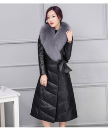 Discount Women Leather Dress Winter Coats | 2017 Women Leather ...