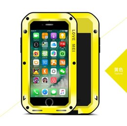 Dust Waterproof Iphone Case NZ - Love MEI Shockproof Waterproof Dust   Snow Proof Aluminum Metal Case Gorilla Glass Heavy Protection Case Cover for Apple iPhone 7 4.7 ""