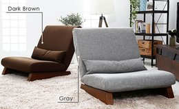 Room Chairs NZ - Floor Foldable Single Seat Sofa Chair Modern Fabric Japanese Sofa Furniture Armless Lounge Recliner Living Room Occasional Accent Chair