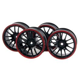 Electric Rc Car Wheels Canada - 4x Wheel 26mm,Rim Hex 12mm, RC 1:10 On-Road Street Drift Car tires 9068