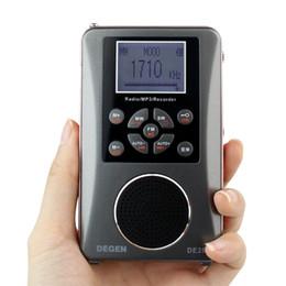 Sw Pack NZ - Wholesale-DEGEN DE-28 FM MW SW Short Wave Multiband Radio Receiver Portable Pocket Radio Support LED Backlit Dot Matrix Y4219A