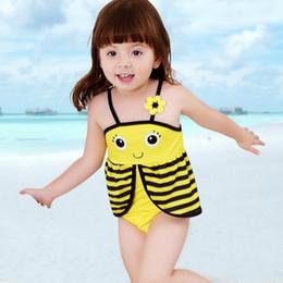 8a0db5bc77e8d Baby Rompers Swimwear Girls cute Swimsuit Costume bee shape Swim Suit  Beachwear Swimming Bathing Suits