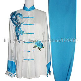 Chinese Suits For Girls Canada - Chinese Tai chi clothing taiji sword garment exercise performance suit embroideried costume for women men children boy girl kids adults