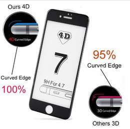 iphone glass screens for sale NZ - 10pcs Lot Hot Sale New 4D COLD CARVING Full Cover Tempered Glass for iPhone 7 7Plus 6 6S Plus Premium Screen Toughened Glass Protective