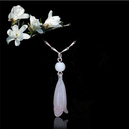 $enCountryForm.capitalKeyWord NZ - 925 sterling silver items jewelry wedding pendant statement necklaces vintage fashion white Magnolia flower sheep shape