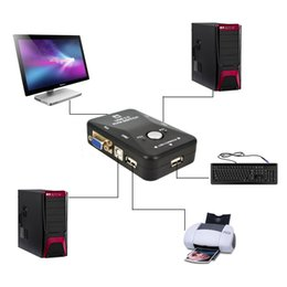 Vga port box online shopping - Freeshipping Port USB KVM Switch Switcher Box VGA SVGA Splitter Auto Controller Mouse Keyboard