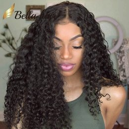 $enCountryForm.capitalKeyWord Canada - Brazilian Human Hair Lace Wigs for Black Women Kinky Curly Lace Front Wigs Medium Cap Size with Combs Natural Color Bellahair