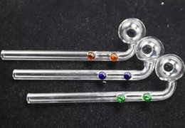 $enCountryForm.capitalKeyWord NZ - Free double dotted Curved Oil Burners Pipes Glass Bongs with colorful Glass Water Pipe
