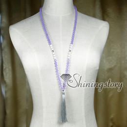 Buddhist Mala Necklace Canada - 108 buddhist prayer beads yoga mala bead necklace yoga inspired jewelry tassel jewelry spiritual jewelry wholesale