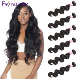 peruvian hair cheap 2019 - Bestseller!Fastyle Brazilian Body Wave Hair Extensions 6pc lot UNPROCESSED Peruvian Malaysian Indian Virgin Human Hair B