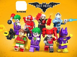 $enCountryForm.capitalKeyWord Canada - 480pcs lot SY639 Super Heroes Mister Freeze Harley Quinn Joker Calender Man Catwoman Batman Building Blocks Bricks Toys for children