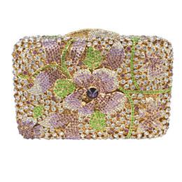 $enCountryForm.capitalKeyWord UK - Wholesale- LaiSC Golden crystal bags wedding clutch bags Luxury diamante evening bags handmade soiree pochette sparkly party purse SC236