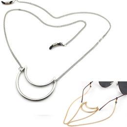 $enCountryForm.capitalKeyWord Canada - KC Gold White K Neck Cord Strap Rope Fashion Eyeglass Strap Reading Glasses Spectacles Sunglasses Eyewear Eyeglass Chain with Moon Pendant