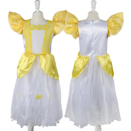 beast cosplay 2019 - Kids Girl Beauty and beast cosplay carnival costume kids belle princess dress for Christmas Halloween free shipping chea