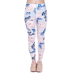 China Lady Leggings Roses Butterfly 3D Graphic Print Women Skinny Stretchy Gym Yoga Pants Girl Spring Summer Autumn Trousers Free Size (J44019) cheap roses butterflies suppliers