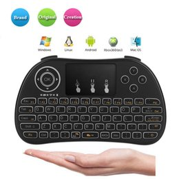 mini pc android smart tv box UK - P9 2.4G Wireless Mini Keyboard Fly Air Mouse QWERTY Keyboard Remote Control Touchpad for Smart Android TV Box Notebook Tablet Pc