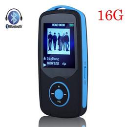 Discount mp3 ruizu - Wholesale- 2017 New Original RUIZU X06 16G High Quality Bluetooth MP3 Music Player 1.8 Inch 100Hours Sports Walkman with
