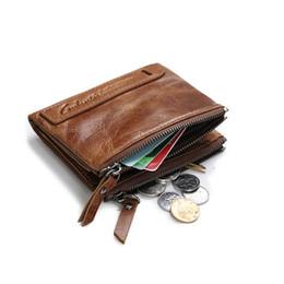 Discount small handmade gifts - Wholesale- GUBINTU Leather Wallet Men Gift Handmade  Holder Billetera Hombre Brand Small Wallet Purses Wallet Men carter