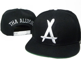 China Tha Alumni Snapback big white A Adjustable hats , Cheap men's and women sports baseball caps , Flat Brim Hip Hop Cap suppliers