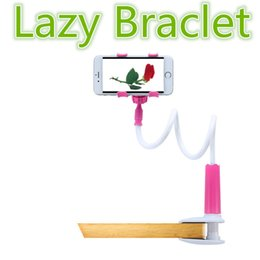 lazy arm phone holder 2019 - Durable Flexible Long Arms Lazy Bed Desktop Mobile Phone Holder Bracket Stands for Iphone6 6plus 5s Samsung 4-7inch 12cm