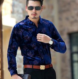 Mens Long Silk Shirts Canada - Mens Shirt Long Sleeve Male Business Casual Fashion Formal Velour Shirts Slim Chemise Homme Masculina Camisa